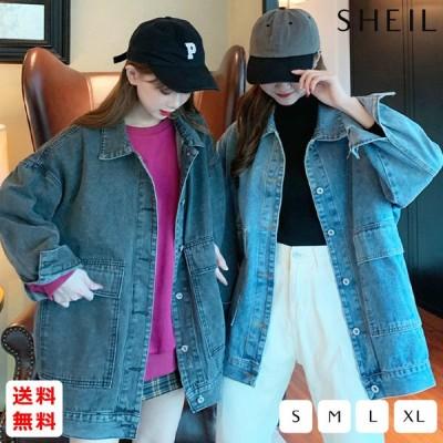 オーバーサイズ デニムジャケット レディース ルーズ ゆったり 体型カバー 韓国 韓国ファッション 2020年 新作 春 送料無料