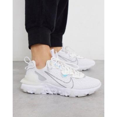 ナイキ レディース スニーカー シューズ Nike React Vision sneakers in white