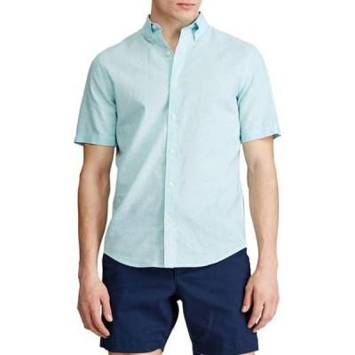 チャップス メンズ シャツ トップス Go Untucked Short Sleeve Linen Shirt