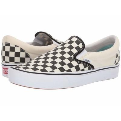 バンズ スニーカー シューズ メンズ ComfyCush Slip-On (Classic) Checkerboard/True White