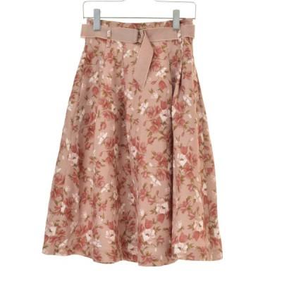 Dazzlin' / ダズリン フラワー柄ロング スカート