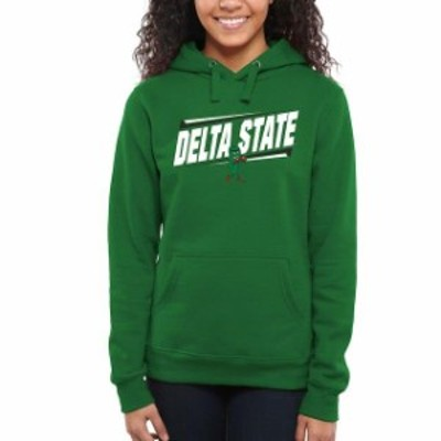 Fanatics Branded ファナティクス ブランド スポーツ用品  Delta State Statesmen Womens Kelly Green Double Bar Pull
