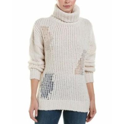 IRO イロ ファッション ドレス Iro Alpaca & Wool-Blend Turtleneck Sweater M White