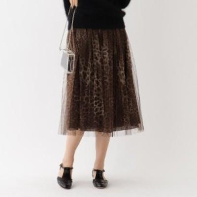 【NEW】アクアガール(aquagirl)/Bilitis dix-sept ans チュールレオパード柄スカート
