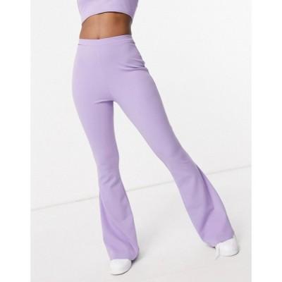 エイソス ASOS DESIGN レディース ボトムス・パンツ Hourglass Jersey Kick Flare Suit Trousers In Lilac ライラック