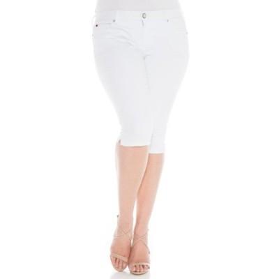 スリンクジーンズ レディース デニムパンツ ボトムス Skinny Cropped Jeans (Plus Size) LEXY