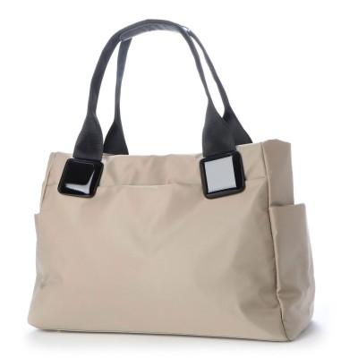 A4対応 キャリーバッグ対応 軽量ナイロントートバッグ (ベージュ)