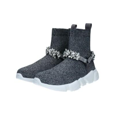 ブーツ ビジューベルトスニーカーブーツ(595034)
