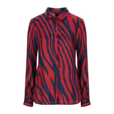 SOALLURE シャツ レッド 42 レーヨン 100% シャツ