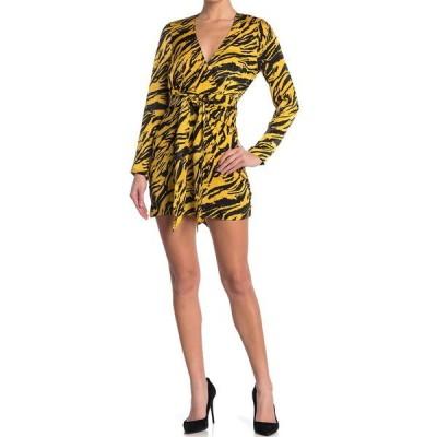 ロニーコボ レディース ワンピース トップス Marissa Tiger Printed Gathered Mini Dress MARIGOLD MULTI