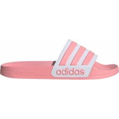 アディダス レディース サンダル シューズ adidas Women's Adilette Shower Slides Pink/White