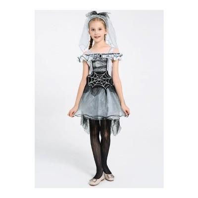 子供服 女の子 ハロウィン コスプレ 衣装   ドレス 可愛い イベント 幽霊の花嫁 コスチューム