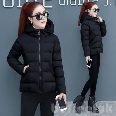 中綿コート レディース 40代  30代 ショート丈 軽い 冬服 厚手 アウター ダウン風コート 中綿ジャケット パーカー フード