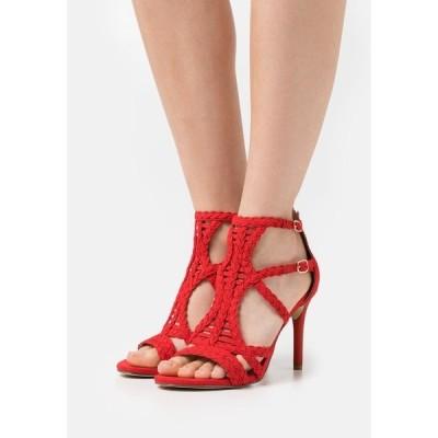 ブルボクサー サンダル レディース シューズ High heeled sandals - light red