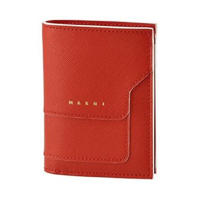 MARNI(マルニ) 財布 二つ折り ミニ財布 サフィアーノレザー 二つ折り財布 PFMOQ14U07 LV520 Z416W [並行輸入品]