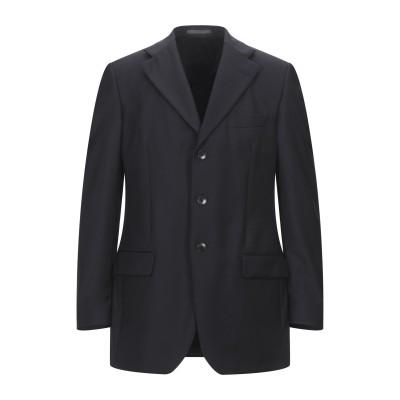 LUBIAM テーラードジャケット ダークブルー 48 毛(ピュアバージンウール / ウールマーク付き) テーラードジャケット