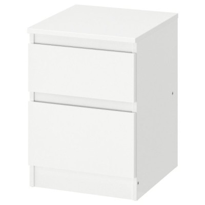 IKEAチェストKULLEN (引き出し×2), ホワイト, 35x49 cm送料¥750!代引き可