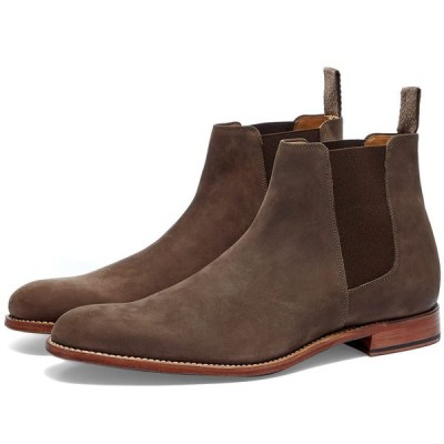 グレンソン Grenson メンズ ブーツ チェルシーブーツ シューズ・靴 Declan Chelsea Boot Dark Brown Oily Nubuck