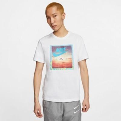 ナイキ Tシャツ 上 メンズ NIKE グラフィック ビッグロゴ フォトT 半袖 CT6591 WHT 送料無料