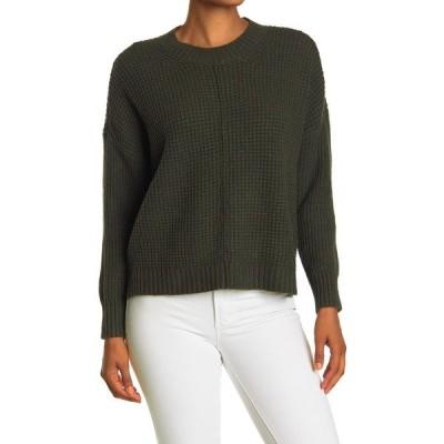 スウィートロメオ レディース ニット&セーター アウター Seam Front Waffle Pullover Sweater LODEN OLIVE