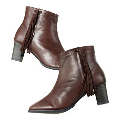 GeeRA / 太ヒールタッセル付ショートブーツ WOMEN シューズ > ブーツ