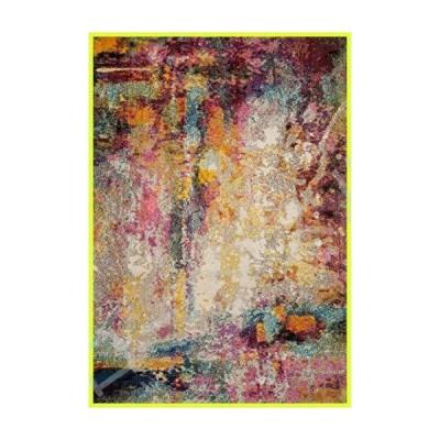"Loloi II Nadia Collection Vintage Distressed Abstract Area Rug 5'-1"" x 7'-7"" Multi 並行輸入品"