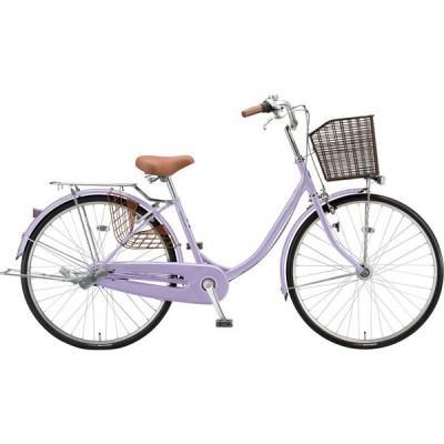 送料無料 ブリヂストン シティサイクル自転車 エブリッジ 変速なしモデル E40U1 E.Xスィートラベンダー