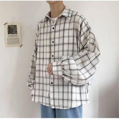 夏の新作チェックシャツメンズ長袖韓国版大きいサイズトレンドハンサム半袖薄いスタイル シャツ
