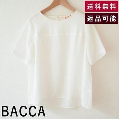 BACCA バッカ ブラウス 白 ゆったり 透ける Aライン C0507N003-0703