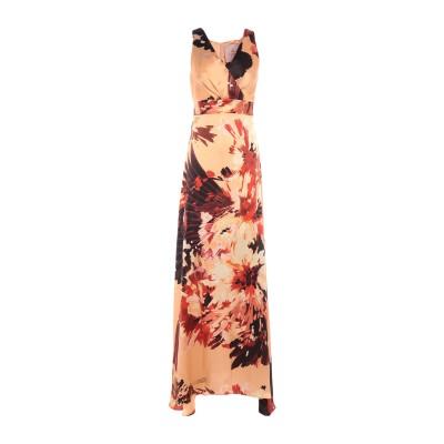 KITAGI® ロングワンピース&ドレス あんず色 42 シルク 100% ロングワンピース&ドレス