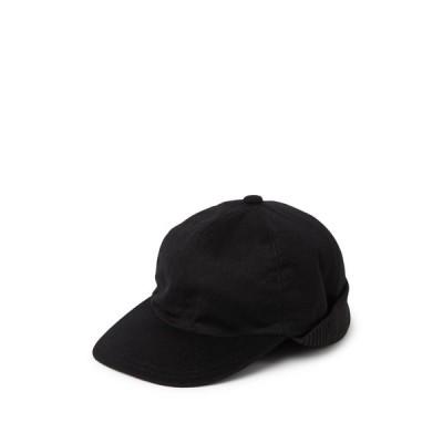 スチュワート オブ スコットランド メンズ 帽子 アクセサリー Cashmere Baseball Cap with Ear Flaps 001BLK