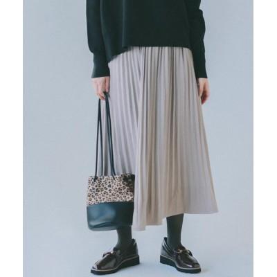 THE SHOP TK(Women)(ザ ショップ ティーケー(ウィメン)) フェイクスエードプリーツスカート
