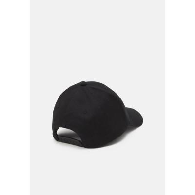 エンポリオ アルマーニ 帽子 メンズ アクセサリー BASEBALL HAT UNISEX - Cap - black