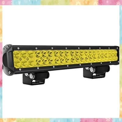 LED作業灯 イエロー 20インチ 126wライトバー GREENBEAN 42個LEDチップ 広角 狭角 一体型 12V 24V兼用 防水 投光器 6500K