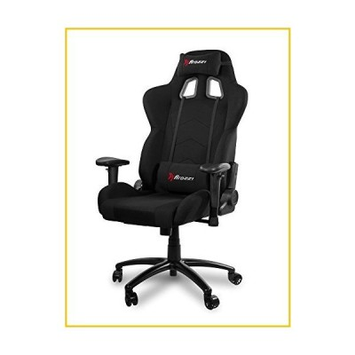 Arozzi Inizio Ergonomic Fabric Gaming Chair with High Back, Rocking & Recline Function - Black