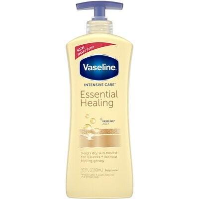集中ケア、エッセンシャルヒーリングボディローション(Vaseline)、20.3液量オンス(600ml)