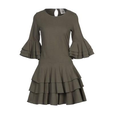 ジジル JIJIL ミニワンピース&ドレス ミリタリーグリーン 38 コットン 94% / ポリウレタン 6% ミニワンピース&ドレス