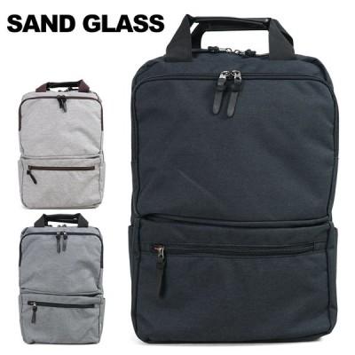 リュック メンズ ビジネス A4 SANDGLASS サンドグラス 縦型 スクエア ビジネスバッグ ノートPC対応 バックパック リュックサック