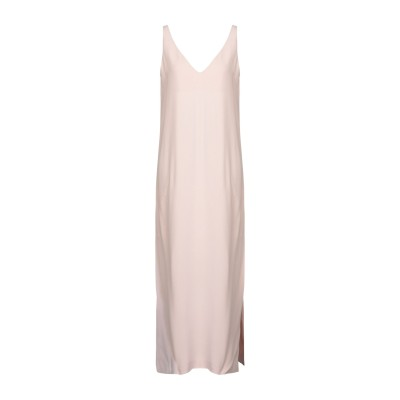 ANTONELLI ロングワンピース&ドレス ライトピンク 42 アセテート 78% / レーヨン 22% ロングワンピース&ドレス
