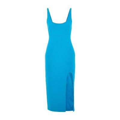 CINQ À SEPT 7分丈ワンピース・ドレス ターコイズブルー 4 ポリエステル 54% / レーヨン 39% / ポリウレタン 7% 7分丈ワ
