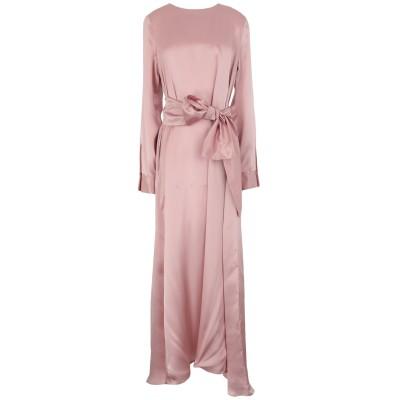 CO. GO ロングワンピース&ドレス ピンク 40 シルク 100% ロングワンピース&ドレス