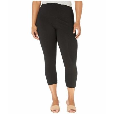 リジー カジュアルパンツ ボトムス レディース Plus Size Cropped Cotton Leggings Black