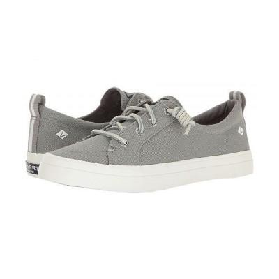 Sperry スペリー レディース 女性用 シューズ 靴 スニーカー 運動靴 Crest Vibe Washed Linen - Grey