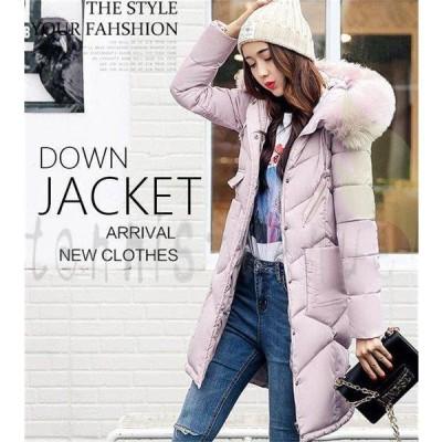 中綿コート レディース ロングコート ダウンコート 大きいサイズ フード付き 中綿ジャケット アウター キルティング 大きいサイズ XL 2XL 3XL 秋冬