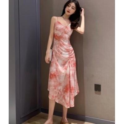 花柄 ワンピース ロング  赤 緑 キャミワンピ リゾート 秋物 冬物 最新 レディース ファッション 2020 人気 可愛い 大人
