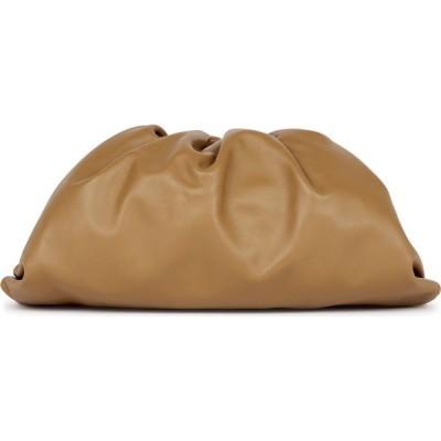 ボッテガ ヴェネタ Bottega Veneta レディース クラッチバッグ バッグ The Pouch Camel Leather Clutch Brown