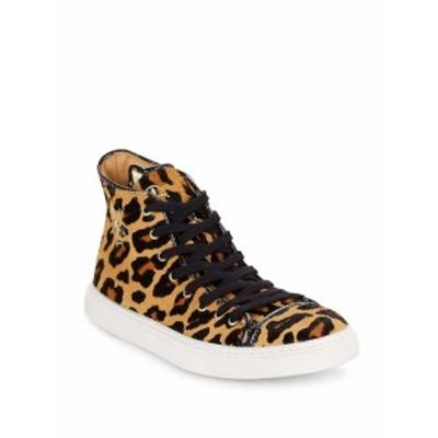 シャーロットオリンピア レディース シューズ スニーカー Purrrfect Leopard-Print Calf Hair High-Top Sneake