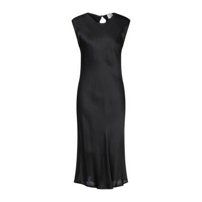 DIXIE 7分丈ワンピース・ドレス ブラック 44 レーヨン 100% 7分丈ワンピース・ドレス