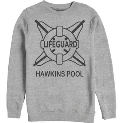 フィフス サン Fifth Sun メンズ スウェット・トレーナー トップス Stranger Things Hawkins Lifeguard Sweatshirt athletic heather