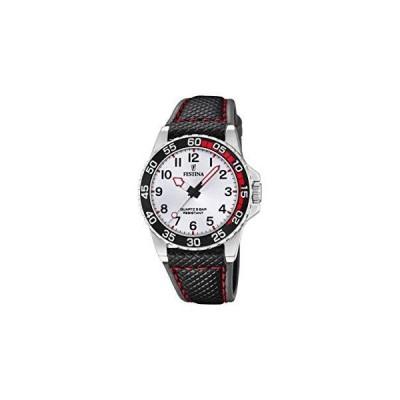 海外限定 Festina Boys' Stainless Steel Quartz Watch with Leather Strap, Multicolour, 18 (Model: F20460/1)
